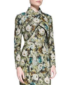 Long-Sleeve Crisscross Floral Bolero by Kay Unger New York at Neiman Marcus.