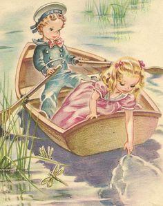 Cute Vintage Illustration  #boat