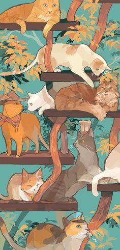 Cat Metropolis by chunderella