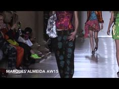 Watch the Marques'Almeida show for AW15 at London Fashion Week