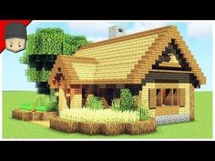 How To Build A Starter House In Minecraft (Minecraft House Tutorial) Minecraft Cottage House, Minecraft Cabin, Minecraft Starter House, Minecraft Small House, Minecraft Houses Survival, Easy Minecraft Houses, Minecraft House Tutorials, Minecraft Houses Blueprints, Minecraft Plans