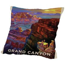 KC NP Grand Canyon Sunset Throw Pillow
