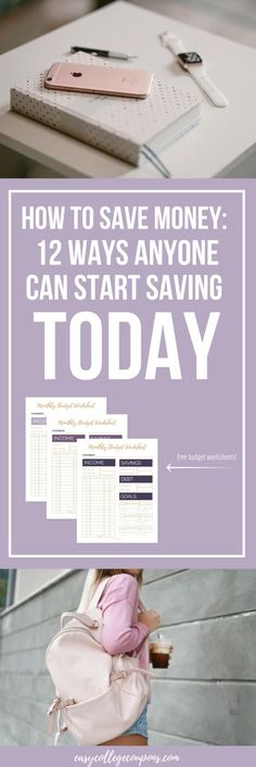How to Save Money | In College | For Vacation | In your 20s | Monthy | On Bills | For Teens | Budget | Ideas | Tips | Extra Cash