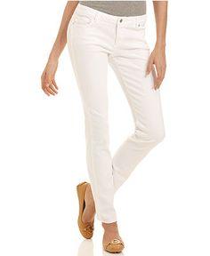 MICHAEL Michael Kors Jeans, Skinny White Wash - Womens - Macy's