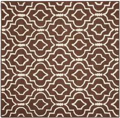 Sandra Dark Brown Geometric Wool Hand-Tufted Area Rug