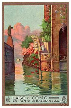 Vintage poster Lake Como | #lake #Como #Lago #Italy #lakecomoapp #poster #vintage #advertising Vintage Italian Posters, Vintage Travel Posters, Vintage Photos, Last Minute Travel Deals, Away We Go, Italian Lakes, Lake Como, Europe, Beautiful Places To Visit