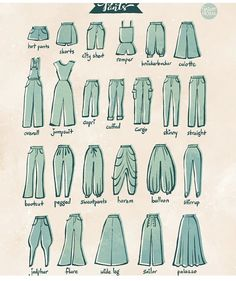 Fashion Design Sketches 614600680381154693 - From 100 Tuesday Tips volume some of the different type of pants. I personally love culotte and harem pants. Source by
