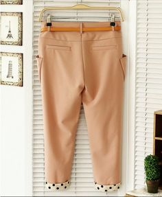 Brown Harem Capris with Mid-rised Waist