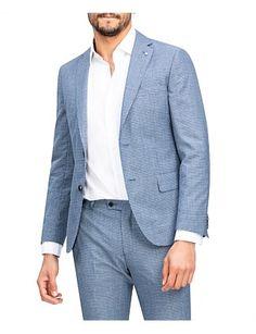 Checked Suit, Mens Sport Coat, Premium Brands, Klein Blue, David Jones, Jackets Online, Wedding Suits, Blazer Jacket, Calvin Klein