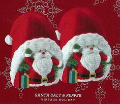 Martha Stewart Collection VINTAGE HOLIDAY Santa Salt & Pepper Shaker Set #MarthaStewart