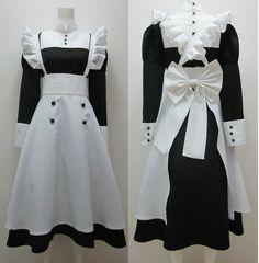 Kuroshitsuji Black Butler Mey-Rin Maid Cosplay Costume