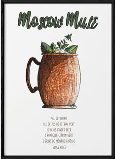 Cocktail Moscow Mule, Cocktail Shots, Cocktail Recipes, Cocktails, Cool Books, Juice Smoothie, Food Illustrations, Bartender, Drinking