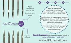 ¡Evita dañar la tela de tus proyectos! Les dejamos estos datos interesantes acerca del cambio de agujas. #soydreamer