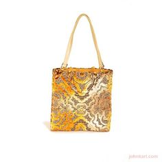 BAROQUE GOLD LARGE TOTE  BAXTER DESIGNS  $395.00 USD