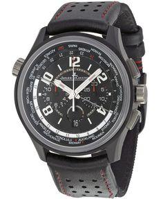 Jaeger LeCoultre Amvox Worldtime Automatic Chronograph Black Dial Men's Watch Q193A470