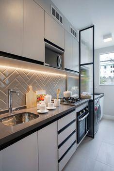 Home Decoration For Anniversary Kitchen Room Design, Home Room Design, Kitchen Cabinet Design, Modern Kitchen Design, Home Decor Kitchen, Interior Design Kitchen, Kitchen Furniture, Home Kitchens, Condo Interior
