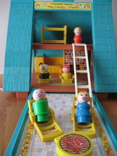 """Fisher Price Little People Play Family """"A"""" Frame Chalet 1970s. $119.99, via Etsy."""