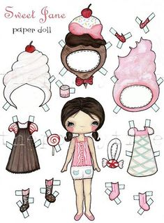 (⑅ ॣ•͈ᴗ•͈ ॣ)♡                                                                                                                       Paper doll Sweet Jane