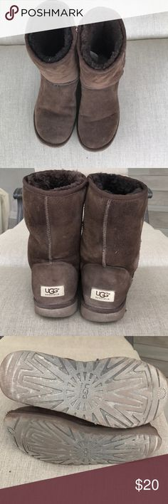 UGG Boots Pre-loved UGG Boots. Smoke free home. Still fluffy & comfy & warm. Cleaning out my closet. Moving to a smaller house. 😭 UGG Shoes Ankle Boots & Booties