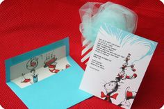 Dr. Seuss invitation for 3 year old