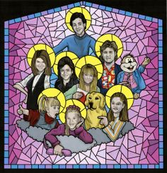 Full House Fan Art. Can I get this made into a real stained glass window for my house?
