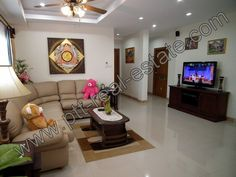 """Two bedrooms apartment for rent in the heart of Jomtien. 2 bed/2 bath, large ling room, Fully equipped kitchen, Refrigerator, Oven, Microwave, 4 Air conditionings, Sophon Cable TV System, UBC Available on demand, 2 Mega pixels 42"""" full HD LCD T.V., Sony Home Theater and DVD Player, Ultra violet 7 stage filtration for drinking water, Washing machine, shower room, parking space. Telephone direct line, free Wi-Fi Internet, Key card security, Video camera system, Intercom system, Alarm System."""
