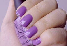 Love this OPI purple polish for spring.