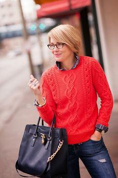 2013 sweater (Gap), ), button down (J.Crew ) bag (Michael Kors),