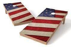USA Flag Single Cornhole Board-Close