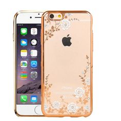 Garden Flowers Rhinestone Cases For IPhone 5 / 6 / 7 series