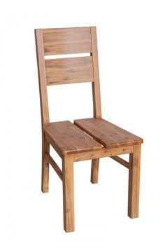 Stuhl Colorado - Akazie massiv - braungrau - gebürstet & lackiert