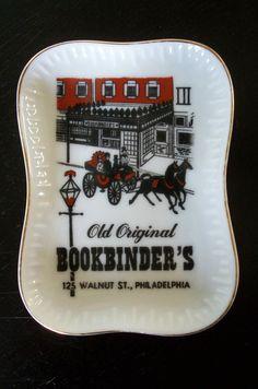 Old Original Bookbinder's Walnut St. Philadelphia Ceramic Restaurant Souvenir Ashtray, $25.00