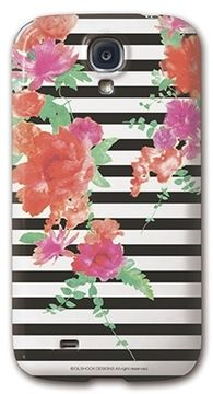 Stripe&flower phone case / ShopStyle(ショップスタイル): [collaborn ]GalaxyS4 Paradise for nothing Black