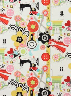 Design: 'Sew Now Sew Wow' - fabric by Alexander Henry Fabrics