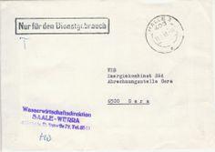 Halle Wasserwirtschaftsdirektion Saale-Werra nach Gera VEB Energiekombinat
