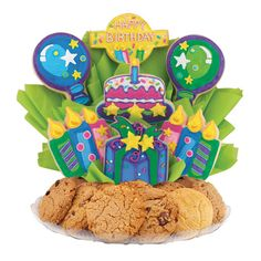 Happy Birthday Bright Cookie BouTray™ | Cookies by Design