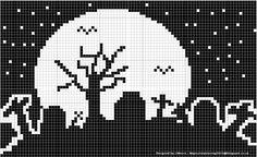 Halloween Crochet, Halloween Crafts, Nightmare Before Christmas, Blackwork, Diy Xmas Gifts, Halloween Cross Stitches, Halloween Patterns, Knitting Charts, Plastic Canvas Patterns