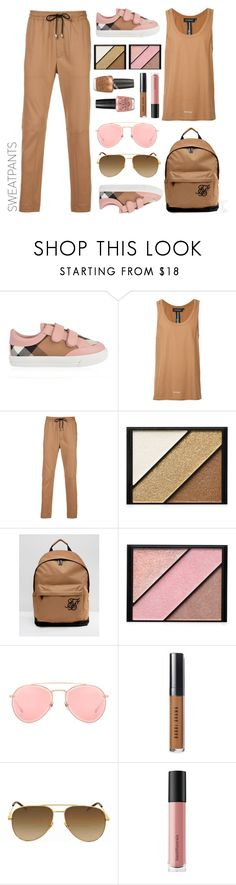 """""""Sweatpants.... brown+pink"""" by puljarevic ❤ liked on Polyvore featuring Burberry, Icosae, Elizabeth Arden, Sik Silk, OPI, Dita, Bobbi Brown Cosmetics, Yves Saint Laurent, Bare Escentuals and sweatpants"""