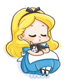 48 Ideas Funny Wallpapers Disney Alice In Wonderland Disney Kawaii, Chibi Disney, Art Disney, Disney Pixar, Disney Cartoons, Alice Disney, Disney Drawings, Cute Drawings, Alice In Wonderland Drawings