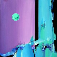 "Saatchi Art Artist Sandra Vucicevic; Painting, ""LUNAR RHAPSODY"" #art"