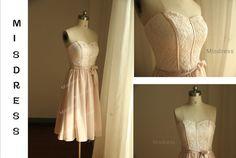 Vintage inspirierte Blush Pink Chiffon Brautjungfer von misdress
