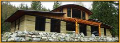 earthen_border Earth Homes, Cabin, House Styles, Home Decor, Decoration Home, Room Decor, Cabins, Cottage, Home Interior Design