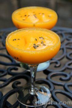 Mango passion fruit margarita - Laylita's Recipes