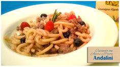 #Gramigna rigata #4Minuti con luganega e frutti di bosco.  Una ricetta davvero gustosa e originale, cucinata con Amore e #Andalinilatuapasta da Daniela Bocconi del blog Idea Menu.  www.andalini.com