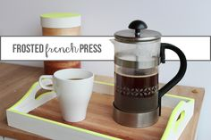 DIY Frosted Glass French Press Tutorial