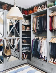 Closet inspiration for an organized space. | http://domino.com