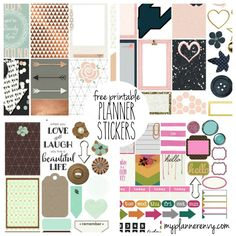 Free Printable Planner Stickers - hundreds!