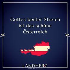 Austria | Österreich #Landherz Heart Of Europe, In The Heart, Travel Posters, Vienna, Austria, Lol, Movie Posters, Best Pranks, Language