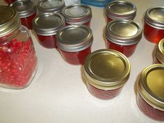 Delicious Cinnamon Apple Jelly made with cinnamon hearts and canned apple juice..