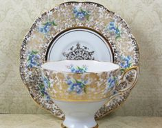 Items similar to Vintage Gold Imari Asian Hand Painted, Red, Blue and Gold Gilt Tea Cup and Saucer on Etsy Vintage Tea, Vintage Shops, Tea Cup Saucer, Tea Cups, Light Blue Flowers, Fine China, Tea Set, Tea Party, Red And Blue